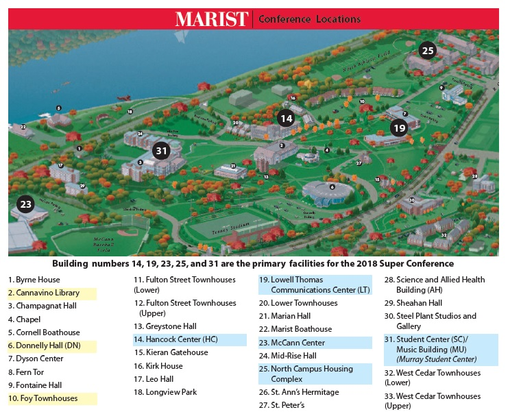 marist college campus map Campus Map Admissions Super Conference marist college campus map